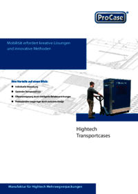 Brochure for case system solutions for both valuable and heavy goods
