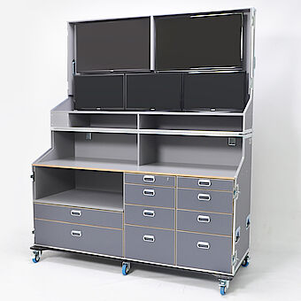 Media cabinet case for broadcast TV and accessories k13582001