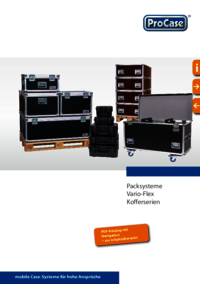 Brochure for flight cases and trunks in standard sizes