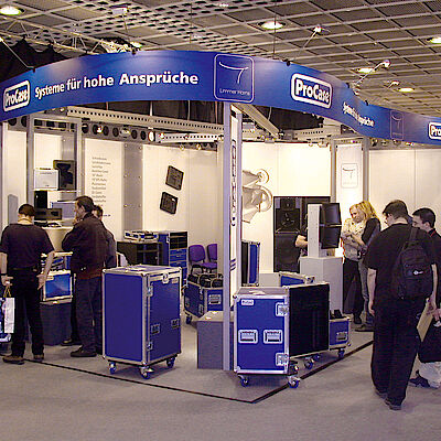 ProCase Messestand auf der Prolight & Sound in Frankfurt / Main
