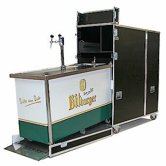 Ramp case for Bitburger beer counter bar k02032054